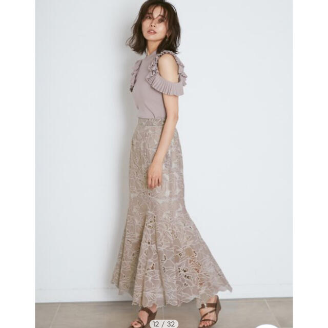 snidel(スナイデル)の新作新品🌷スナイデル カッティングレースマーメイドスカート レディースのスカート(ロングスカート)の商品写真