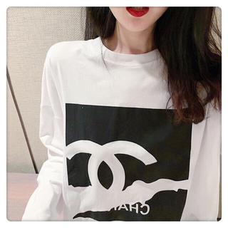 オシャレ♣️綺麗レディース トップス長袖白いTシャツ