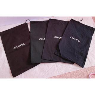 CHANEL - CHANELシャネルシューズケースシューズ袋保存袋巾着袋ポーチ新品未使用