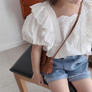 フタフタ(futafuta)のブラウス 韓国子供服 トップス フリル 女の子 新品未使用 タグ付き 春服(ブラウス)