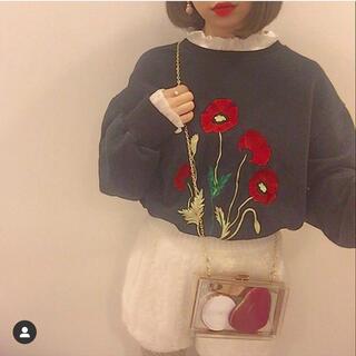 エンビールック(ENVYLOOK)の花柄刺繍スウェット(トレーナー/スウェット)