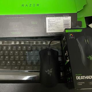 レイザー(LAZER)のrazer キーボード マウスパッド マウスセット(PC周辺機器)