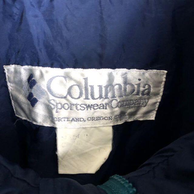 Columbia(コロンビア)のコロンビア☆マウンテンパーカー 古着 ゆるだぼ 90s グリーン 紫 c47 メンズのジャケット/アウター(マウンテンパーカー)の商品写真
