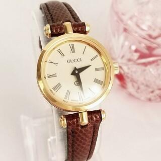 Gucci - ⭐1ヶ月保証 綺麗 グッチ シェリー 新品ベルト レディース腕時計 着物 極美品