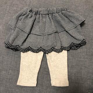 プティマイン(petit main)のpetit main  レギンス付きスカート 80(スカート)