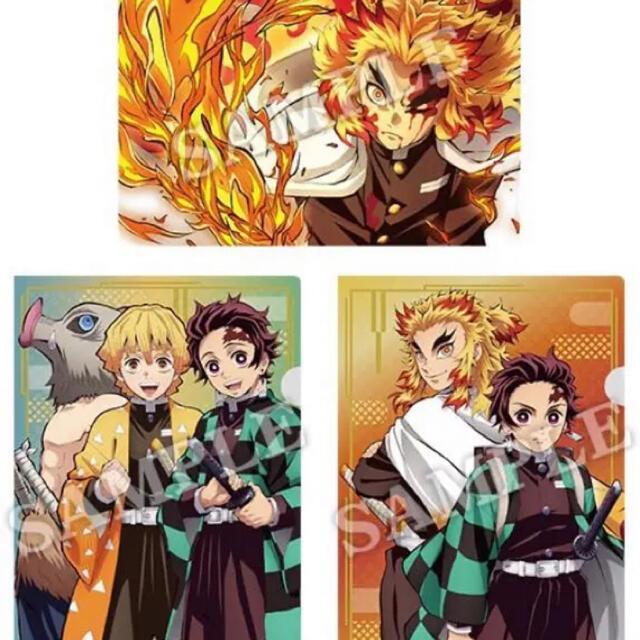 鬼滅の刃 A4クリアファイル 3枚セット エンタメ/ホビーのアニメグッズ(クリアファイル)の商品写真