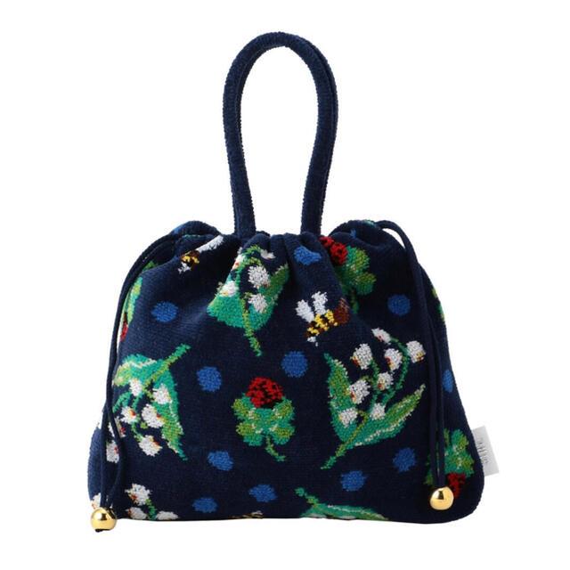 FEILER(フェイラー)のMUVEILコラボ ミュベールハッピーモチーフ 手付き巾着 レディースのバッグ(ハンドバッグ)の商品写真