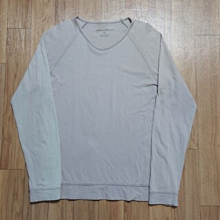 エディーバウアー(Eddie Bauer)のEddie Bauer エディバウワー ロンT 長袖Tシャツ S グレー(Tシャツ/カットソー(七分/長袖))
