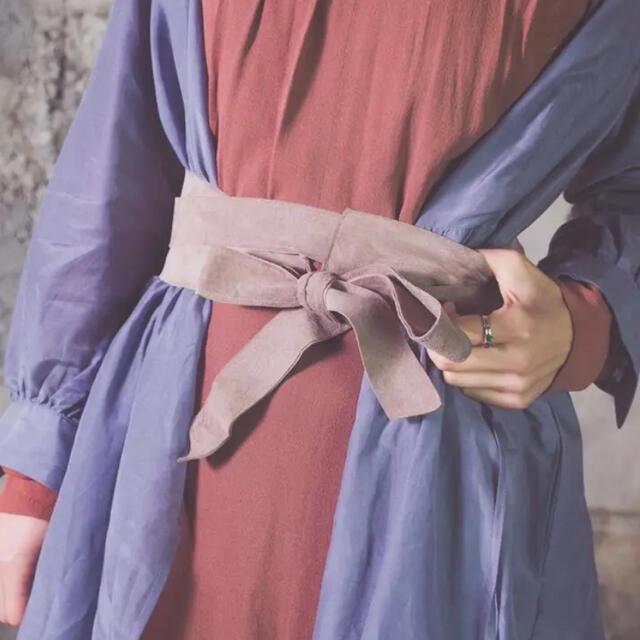 bulle de savon(ビュルデサボン)のMarte レザーベルト/レッド レディースのファッション小物(ベルト)の商品写真