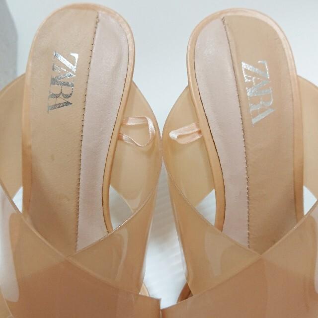 ZARA(ザラ)のZARAクロスビニールサンダル レディースの靴/シューズ(サンダル)の商品写真
