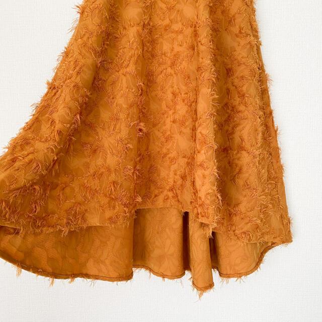LagunaMoon(ラグナムーン)のLAGUNAMOON ラグナムーン フレアスカート  イレギュラーヘム レディースのスカート(ひざ丈スカート)の商品写真