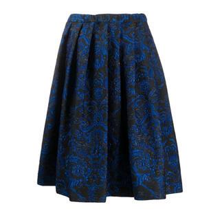 COMME des GARCONS - 貴重 AD2019 コムデギャルソン フローラル 青刺繍 スカート