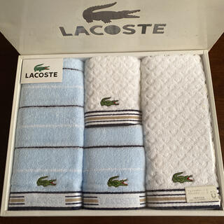 ラコステ(LACOSTE)のラコステ タオル 4枚セット 新品未使用(タオル/バス用品)