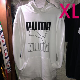 PUMA - PUMA 100%Whiteパーカー 光を反射春夏でも着用可能な薄生地パーカ−