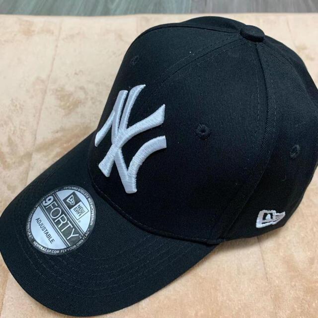 NEW ERA(ニューエラー)のNEWERA ニューエラ 9FORTY ニューヨーク・ヤンキース   ブラック メンズの帽子(キャップ)の商品写真