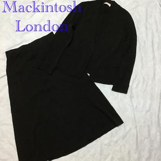 マッキントッシュ(MACKINTOSH)のマッキントッシュロンドン ジャケットスカートセットアップ ノーカラー(スーツ)