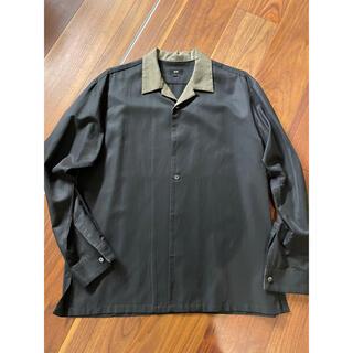 MBオープンカラーシャツ ブラック L(シャツ)