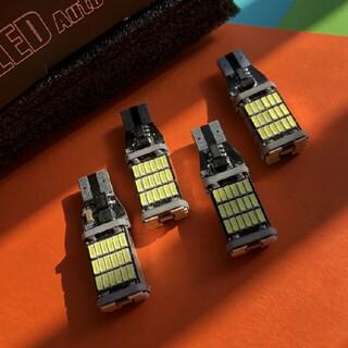 LEDバックランプ  爆光T10/T15/ T16後退灯 4個セットCF(車外アクセサリ)