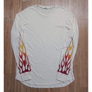 良品 EPTM  エピトミ ロンT 長袖Tシャツ M ファイヤーパターン(Tシャツ/カットソー(七分/長袖))