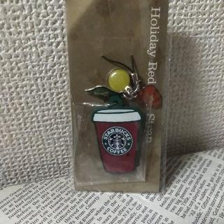 スターバックスコーヒー(Starbucks Coffee)のスターバックス ★レア旧ロゴ★Holiday Red Cup Strap★(その他)