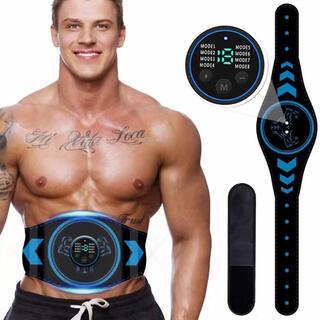 EMS 腹筋ベルト液晶表示 USB充電式 腹筋パッド 腹筋トレーニング