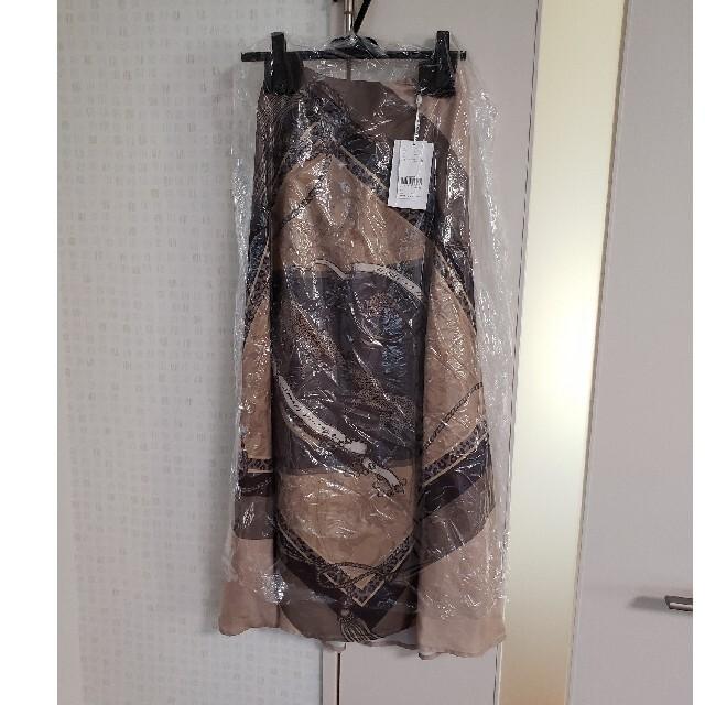 Ameri VINTAGE(アメリヴィンテージ)のタグ付き アメリヴィンテージ  スカーフ スカート ベージュ M レディースのスカート(ロングスカート)の商品写真