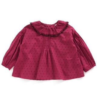 エフオーキッズ(F.O.KIDS)のアプレレクール フリル衿ブラウス 80cm(シャツ/カットソー)