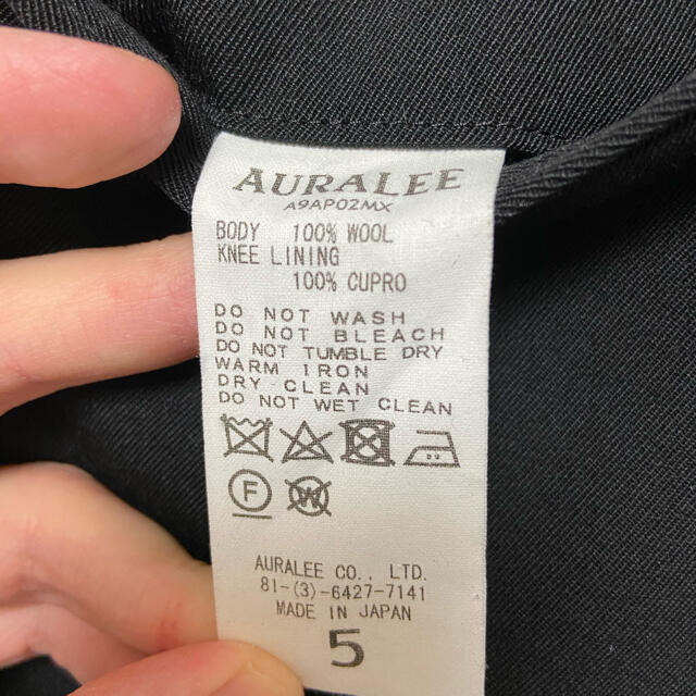 AURALEE 19AW ウールマックスギャバジン スラックス オーラリー メンズのパンツ(スラックス)の商品写真