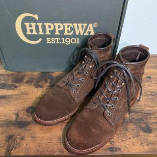 RRL - JCROW×CHIPPEWA ラフアウトレザー ブーツ