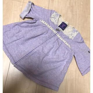 アナスイミニ(ANNA SUI mini)のアナスイ  羽織り パーカー 90センチ(カーディガン)