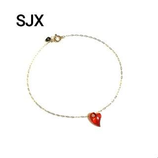 STAR JEWELRY - SJX スタージュエリーK10ジューシーハートブレスレット(美品)