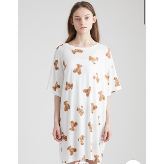 gelato pique(ジェラートピケ)のgelato pique ベアモチーフ抗菌防臭ドレス レディースのルームウェア/パジャマ(ルームウェア)の商品写真