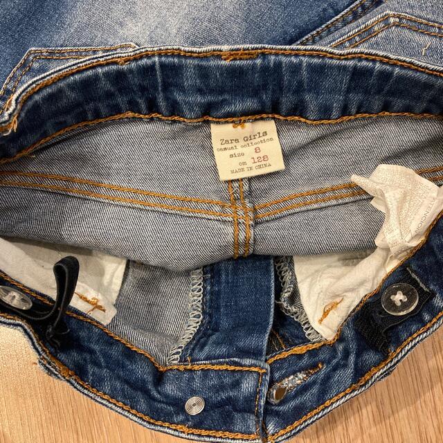 ZARA(ザラ)のZARA デニムスカート 130(128表記) キッズ/ベビー/マタニティのキッズ服女の子用(90cm~)(スカート)の商品写真