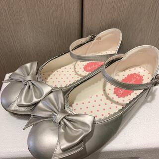 shirley temple 靴 シルバー パンプス 24 M エミキュ