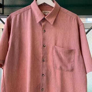 アートヴィンテージ(ART VINTAGE)の2000円セール⭕️90s プリーツシャツ シワ感 デザインシャツ レトロシャツ(シャツ)