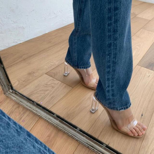 eimy istoire(エイミーイストワール)のクリアヒールサンダル ミュール  レディース ハイヒール 夏 パンプス レディースの靴/シューズ(サンダル)の商品写真