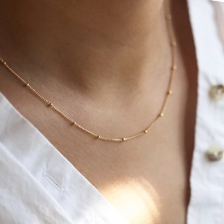 Plage - 【NEW】dot chain necklace *