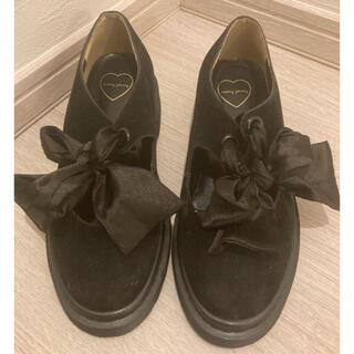 メリージェニー(merry jenny)の美品 merryjenny メリージェニー リボンシューズ M(ローファー/革靴)