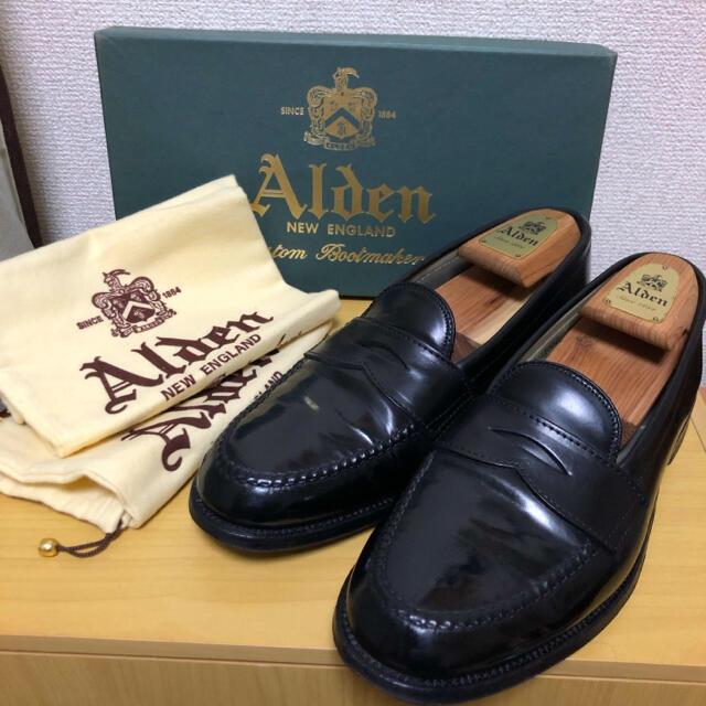 Alden(オールデン)のAlden 987 ブラックシェルコードバン ローファー9D メンズの靴/シューズ(ドレス/ビジネス)の商品写真
