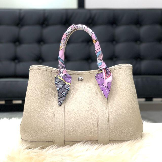 Hermes(エルメス)の美品 HERMES エルメス ガーデンパーティTPM カントリー クレ レディースのバッグ(ハンドバッグ)の商品写真