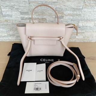 celine - セリーヌ ベルトバッグ ナノ パール ピンク 美品 未使用