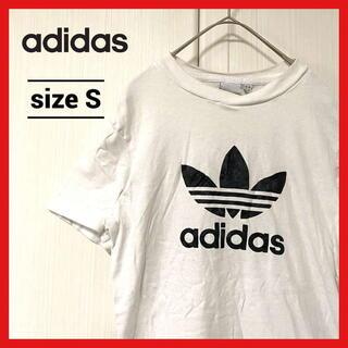 アディダス(adidas)の90s 古着 アディダス Tシャツ トレフォイルロゴ ビッグロゴ 白 S(Tシャツ/カットソー(半袖/袖なし))