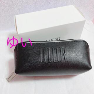 Dior - Diorディオールスクエアポーチブラック黒ディオールノベルティポーチ新品未使用