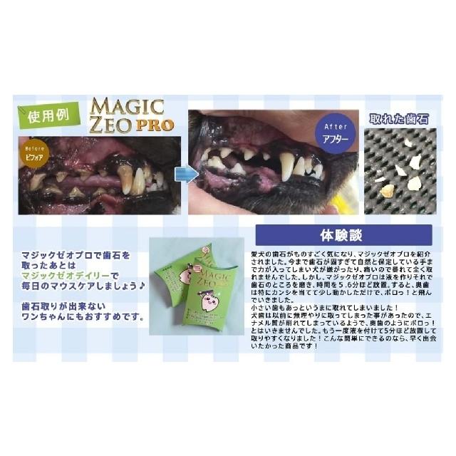 マジックゼオ・プロ 40㏄ ペット 犬用 歯石除去 歯磨き 口臭 歯周病 予防 その他のペット用品(犬)の商品写真