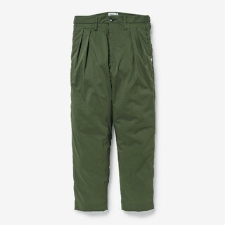 W)taps - 21SS WTAPS TUCK TROUSERS RIPSTOP OD S