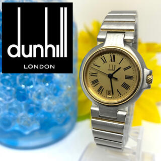 ダンヒル(Dunhill)のダンヒル レディース腕時計 デイト入り そこそこ美品+新品電池です☆(腕時計)