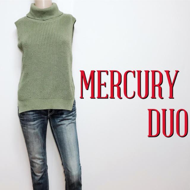 MERCURYDUO(マーキュリーデュオ)のきれいめ♪マーキュリーデュオ ノースリーブタートルニット♡アナイ ミラオーウェン レディースのトップス(ニット/セーター)の商品写真