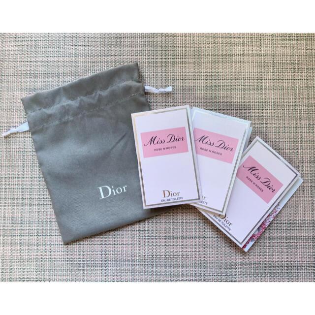 Dior(ディオール)の【壱保14715様専用】Dior ミスディオール ローズ&ローズ × 3 &巾着 コスメ/美容の香水(香水(女性用))の商品写真
