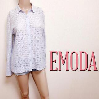 EMODA - 爆かわ♪エモダ おしゃれ着レース ペールカラーシャツ♡ジェイダ マウジー