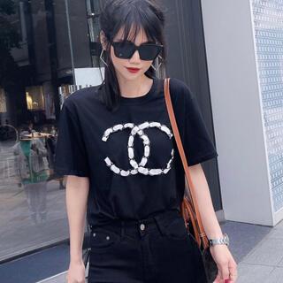 CHANEL - 新品・未使用 Tシャツ ccマーク CHANEL シャネル トップス ロゴ 黒